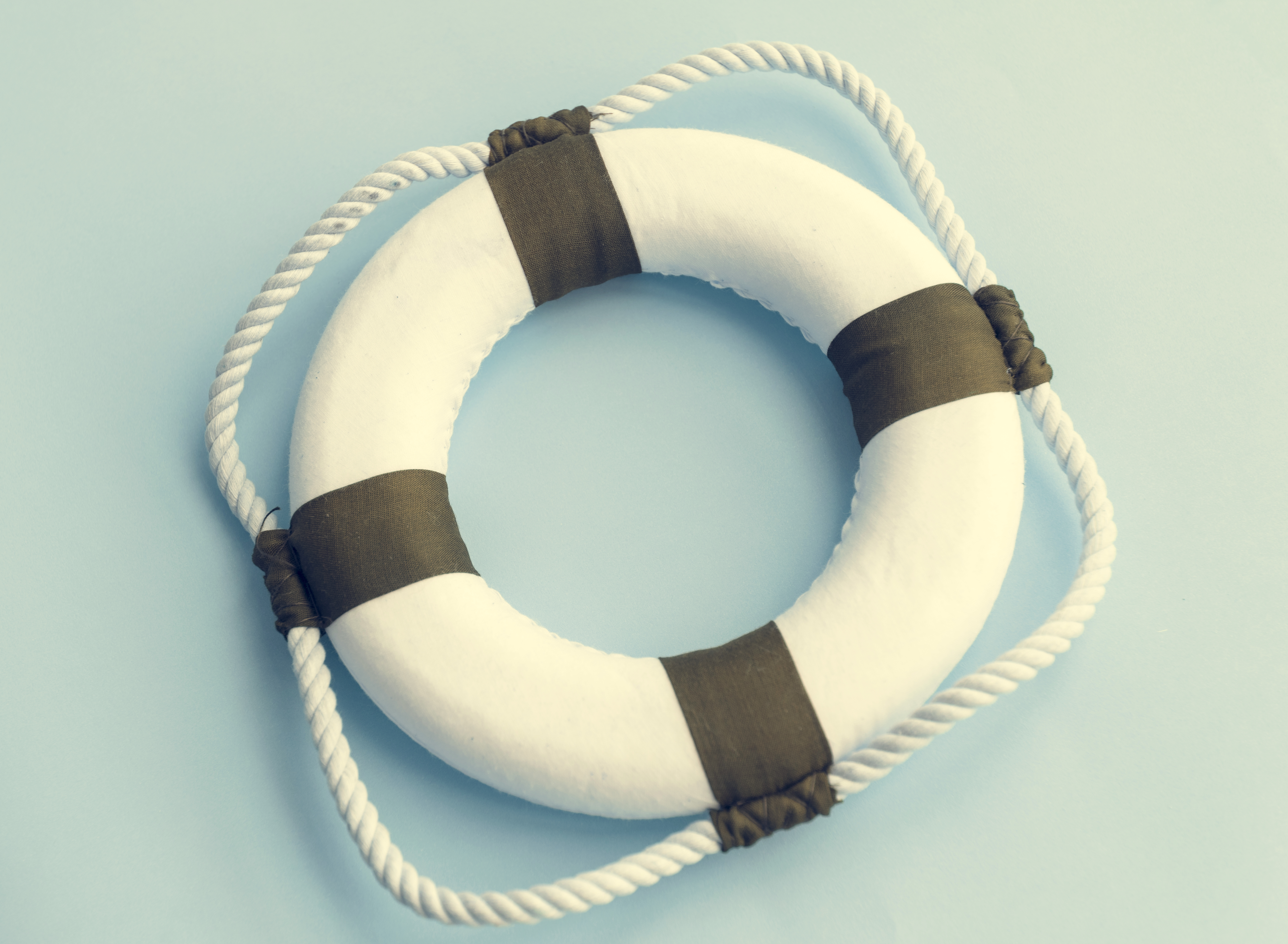 Lifebuoy Swimming Protection Emergency Safety Concept